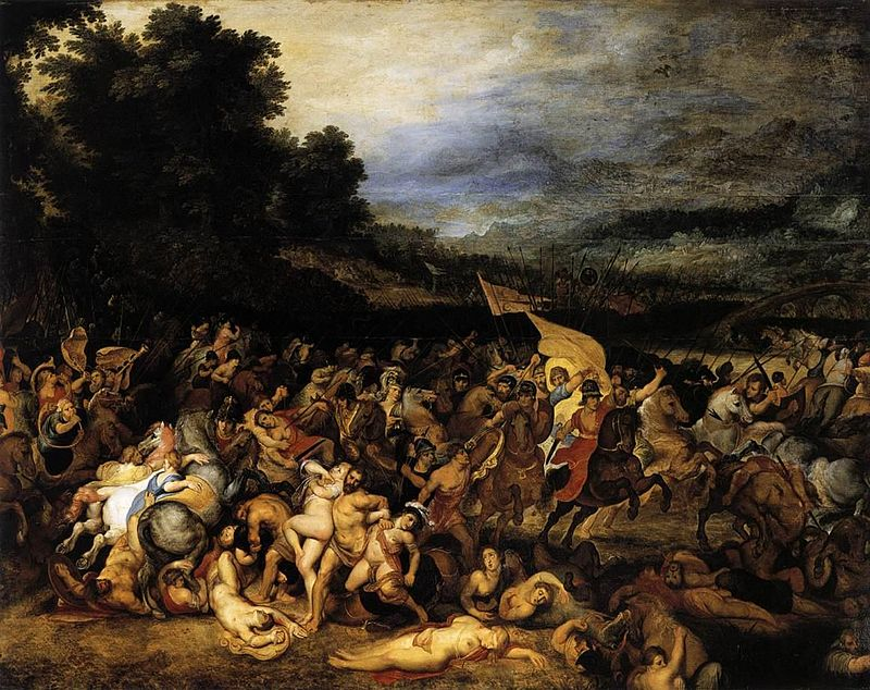 """Battle of the Amazons,'' by Peter Paul Rubens."
