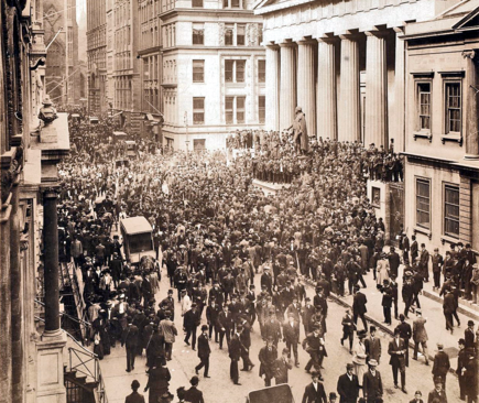 Wall Street during the Panic of October 1907.