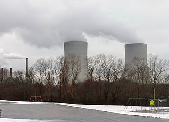 The now-dead Brayton Point Power Station in a recent winter.