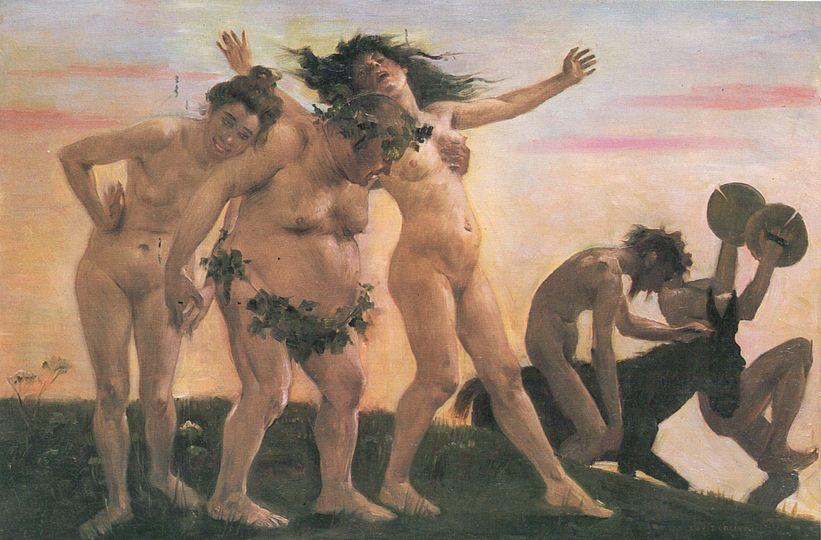 """ Bacchanalia ,''  by Lovis Corinth."