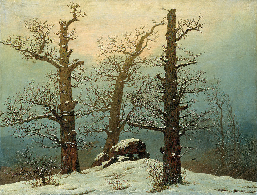 """Cairn in Snow,'' by Caspar David Friedrich."