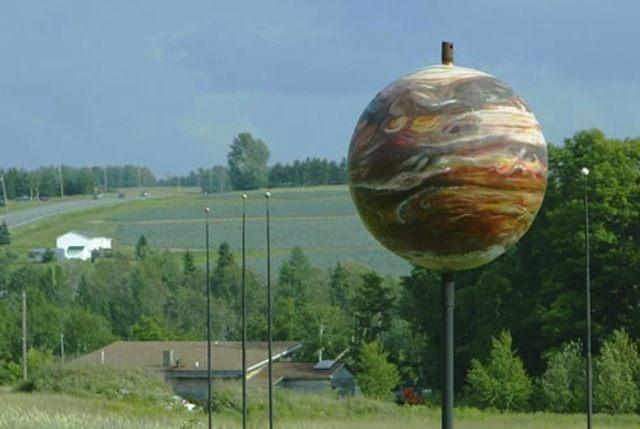 Jupiter, part of the Maine Solar System Model.