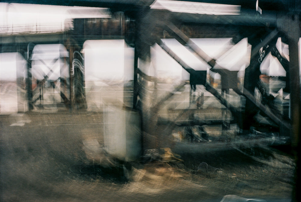 """View from a moving train in Newark, N.J., in the """"Peripheral Visions'' series of photographer Philip K. Howard, who is also chairman of the nonprofit reform organization Common Good (comongood.org) and a New York-based lawyer and civic leader. The group has done a great deal of work in proposing ways to address America's infrastructure crisis. Mr. King's photo Web site is www.philipkingphoto.com."""