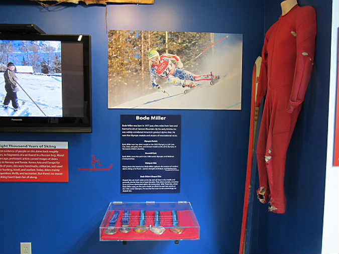 An exhibit in the museum celebrating a local hero.