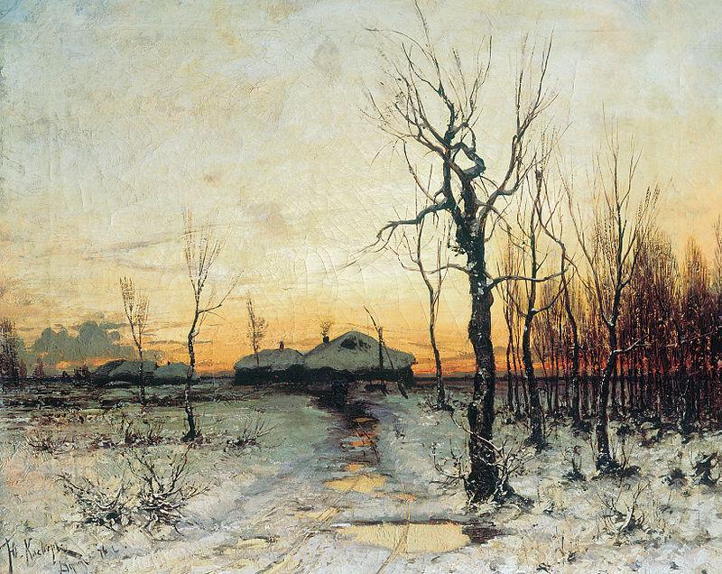 """""""Thaw on the Way,'' by Julius von Klever."""