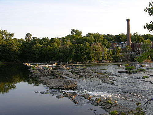 Chace Mill on the Winooski Falls, in Vermont.