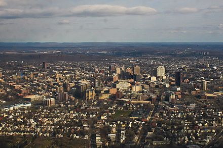New Haven from the air.