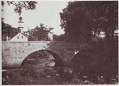 The Slatersville Stone Arch Bridge, in  the old Blackstone River Valley industrial zone.