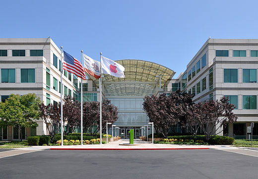 Apple headquarters in Cupertino, Calif., in Silicon Valley.