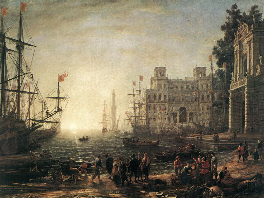 """Seaport,'' by Claude Lorrain."