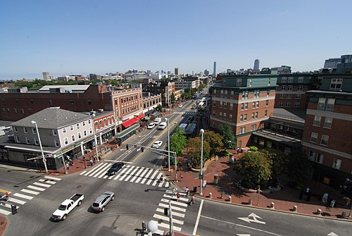 The Central Square area in Cambridge, Mass., an area famed for business startups, especially in technology, in large part because of the proximity of Harvard and MIT.