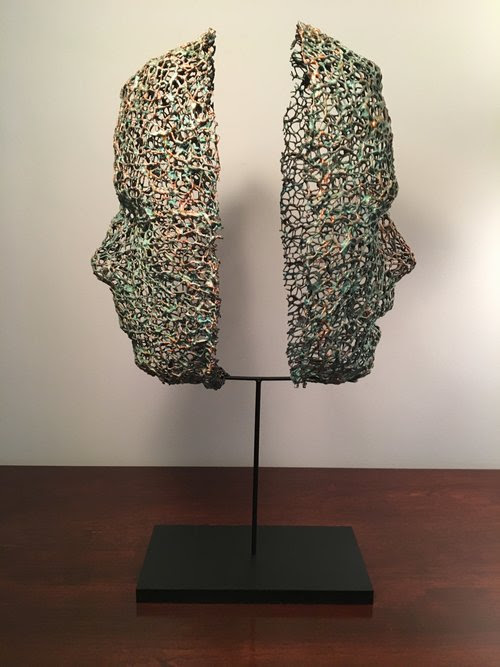 """""""Stalemate.'' by Cindy Journey, in the group show """"With Eyes Wide Open,'' with the National Association of Women Artists, at the Thompson Gallery at the Cambridge School of Weston, Weston, Mass. through March 2."""