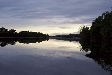 The Housatonic River at Shelton, Conn.