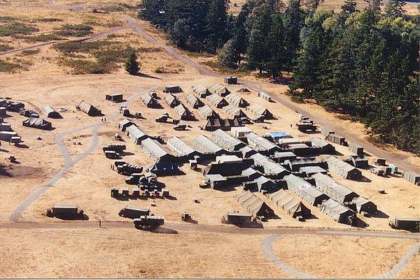 U.S. Army field hospital.
