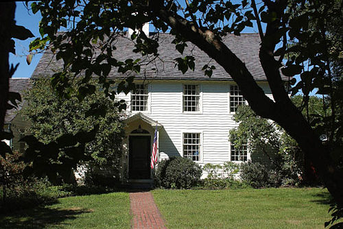 The Black Horse Tavern , in Old Saybrook, Conn.,built about 1712 by John Burrows.It is just west of the site of the historic Fort Saybrook, the major fortification of the 17th-Century Saybrook Colony.The building served as a tavern and inn until 1924. It's now a private house.