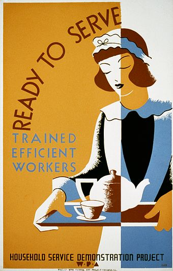 Not always? WPA poster from the Great Depression.