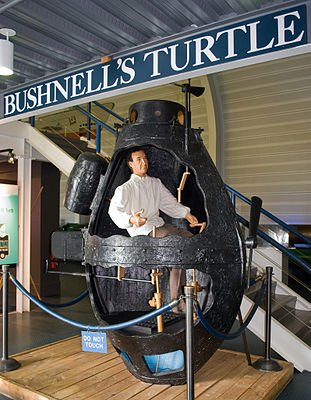 Replica of Turtle at the Submarine Force Library and Museum, in Groton, Conn.
