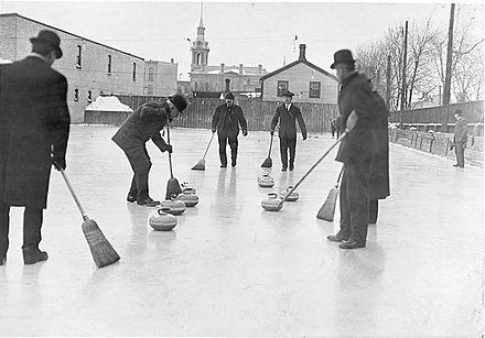 Curling in Toronto in 1909.