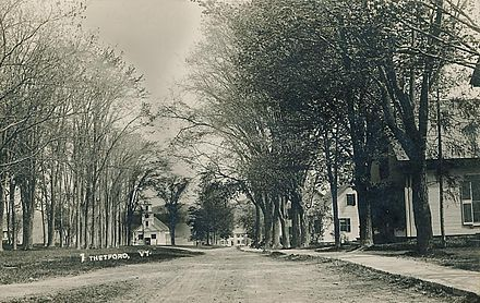 Thetford, Vt., in 1912. Note the beautiful elm trees, now long gone.