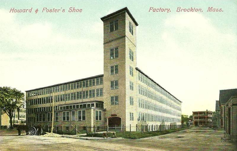 One of the Brockton area's many shoe factories in 1910.