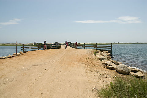 The Dike Bridge, off of which Edward Kennedy drove a car, drowning his passenger Mary Jo Kopechne The bridge didn't have a guardrail at the time of the 1969 accident.