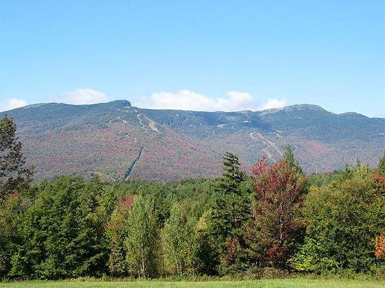 Mt. Mansfield, Vermont's highest peak, at 4,395 feet.