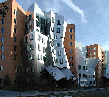 The Stata Center at MIT, whose campus is in Cambridge, Mass., and very close to Harvard.
