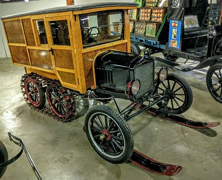 1921 Ford Model T snowmobile.