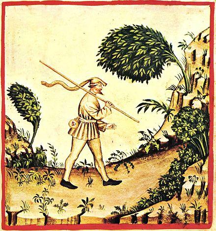 """""""Wind,'' from  TacuinTum Sanitas, a Medieval handbook."""