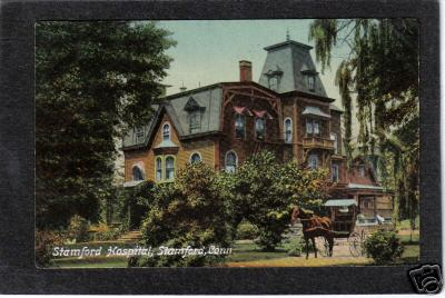 The original Stamford Hospital on a 1911 postcard. Looks like one of the mansions in that long-prosperous community.