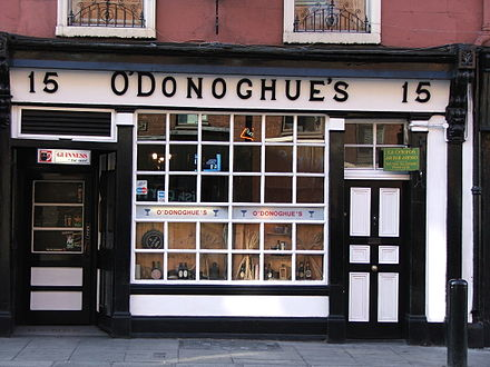 One of the O'Donoghue's pubs in Dublin on the author's 2012 pub crawl.