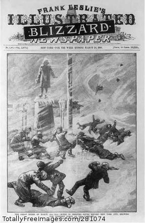 The Blizzard of March 11-14, 1888, paralyzed much of the Northeast.