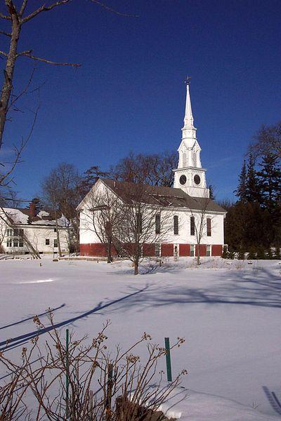 Winter scene in Castine.