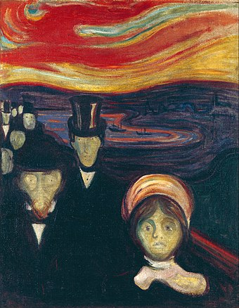 """Anxiety"" (1894), by Edvard Munch."