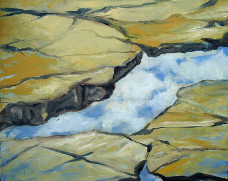 """""""Above"""" *(oil on linen), by Lully Schwartz, at Alpers Fine Art, Andover, Mass."""