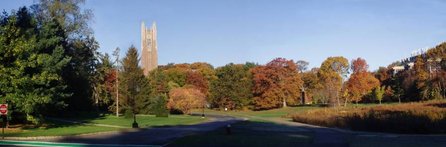 On the Wellesley College campus.