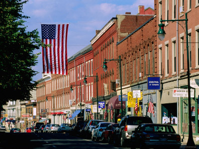 Downtown Rockland, Maine.