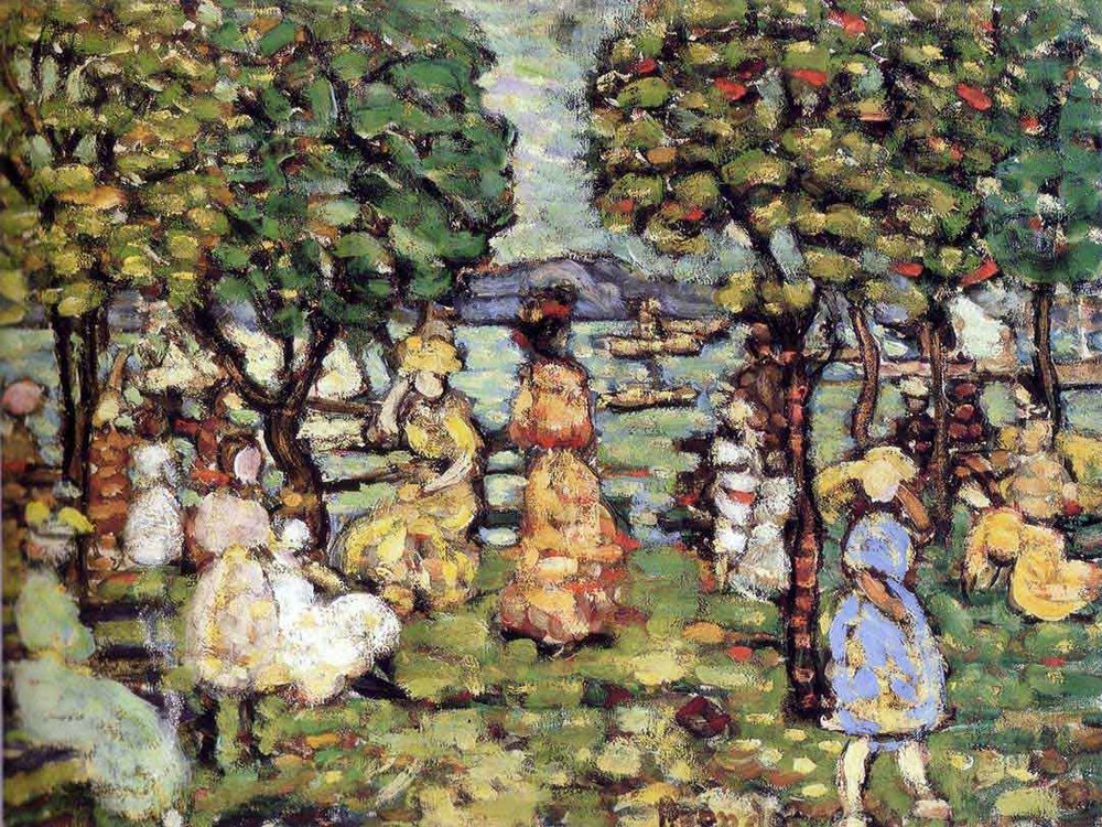 """Salem"" (Mass.) (oil on canvas), by Maurice Brazil Prendergast,  in the show ""American Post-Impressionists: Maurice & Charles Prendergast,'' at the New Britain (Conn.) Museum of American Art, through June 10."