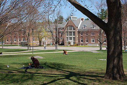 Congreve Hall at the University of New Hampshire's main campus, in Durham.