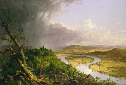 """The Oxbow'' of the Connecticut River, by Thomas Cole (1836)."