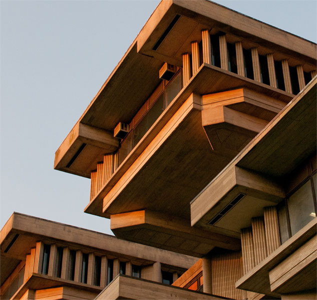 """Image from the show """"A Visionary Campus: Paul Rudolph and UMass Dartmouth,'' at  the CVPA Campus Gallery, University of Massachusetts at Dartmouth."""
