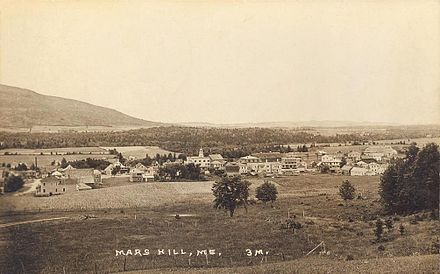 Mars Hill, in northern Maine, circa 1915.