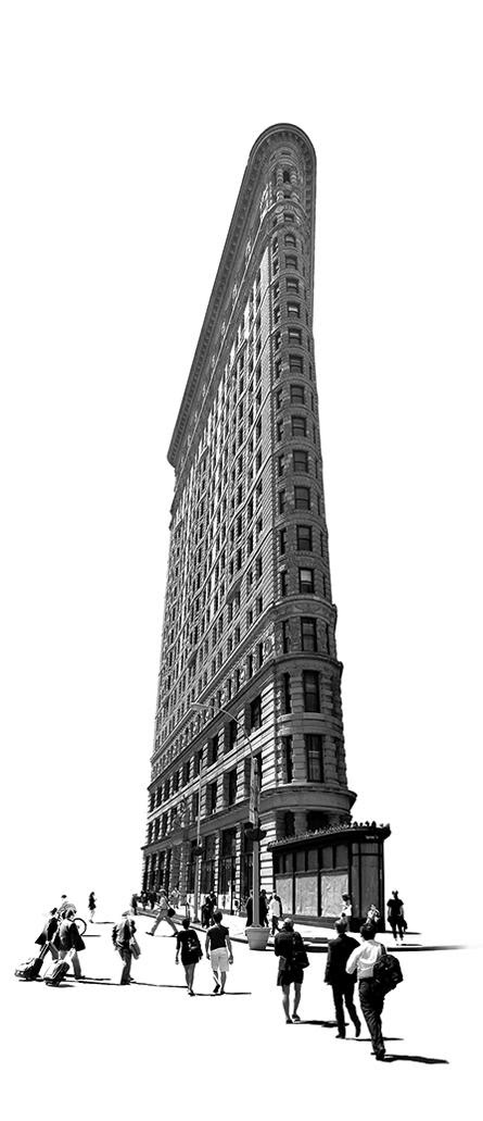 """Flatiron"" (building in Manhattan), by Marc Harrold at Lanoue Gallery, Boston."