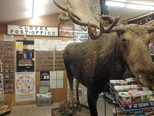 Inside the U.S. Post Office in Glover, Vt., which doubles as a general store.