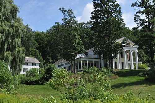 Wilcox-Cutts House, in Orwell. Vt. It was mostly built in 1843.