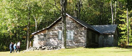 Robert Frost's writing cabin in Ripton, Vt.