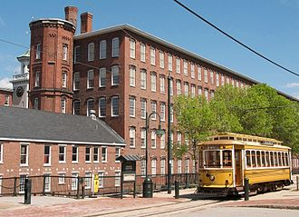 The Boott Cotton Mill Museum and Trolley, in Lowell.