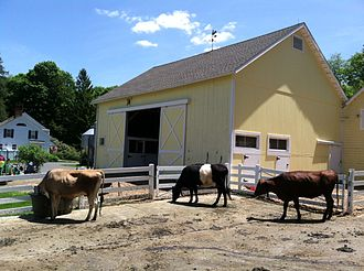 Dairy farm in Redding, Conn., now part of New York City exurbia.