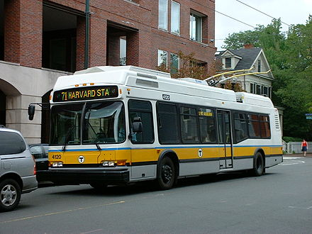 MBTA trolley bus.