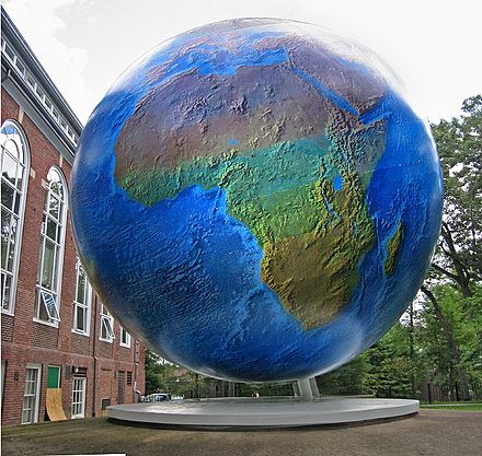 """The Babson Globe,'' on the college's campus in Wellesley."